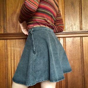 American Apparel Denim Skater Skirt